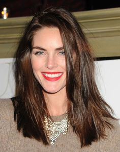Hilary Rhoda Long Side Part - Hilary Rhoda Hair Looks - StyleBistro