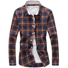 Gender: Men Item Type: Shirts Pattern Type: Plaid Sleeve Style: Regular Brand…