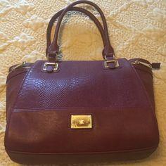 INC brand new handbag Brand new. Shoulder strap.zipper top. Maroon color INC International Concepts Bags Shoulder Bags