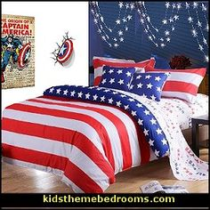 Captain america bedroom i think comer is the kids name for Captain america bedroom ideas