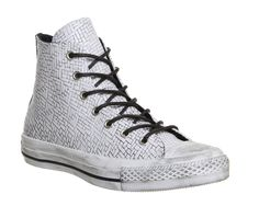 Converse Converse All Star Hi Embossed Woven Black White - Unisex Sports