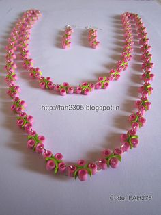 Handmade Jewelry - Paper Quilling Curve n 4 Beads Jewelry (FAH278) (2) | by fah2305