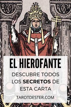 El Hierofante es una de las cartas de Tarot compuesta por tres personajes. Es el V Arcano Mayor. Descubre todos los secretos y significados pulsando la imagen. Tarot Significado, Chakras, Reiki, Comic Books, Tarot Reading, Tarot Card Art, Tarot Cards, Priest, Magick