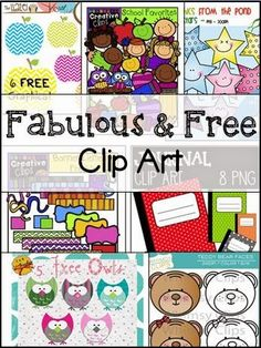 Freebie Friday - Fabulous Clip Art Great list of free clip art sets! Freebie Friday - Fabulous Clip Art Great list of free clip art sets! Classroom Clipart, School Clipart, 2 Clipart, Cute Clipart, Classroom Organization, Classroom Decor, Planner Stickers, Free Clipart For Teachers, Party Banner