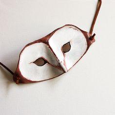 Leather Barn Owl Mask