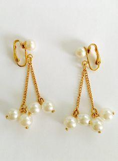 Non Pierced Ears Earrings Oval Clear Glass Statement Jewellery Clip On Earrings