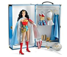 Wonder Woman Deluxe Limited Edition Tonner Trunk Set $350 Value http://www.wonderwomancollectors.com/dolls-37.html  #wonder #woman