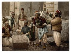 Palestinian Stone cutters, like these guys, would have had a lot of work.