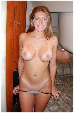 Nude tanline sex selfie