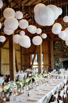 Colorado Wedding: white, navy, succulent and lace décor with lanterns. Decor and flowers by Plum Sage Flowers. Wedding Streamers, Wedding Ceremony Decorations, Plan My Wedding, Wedding Goals, Centerpiece Decorations, Lanterns Decor, Hanging Lanterns, Romantic Wedding Flowers, Barn Parties