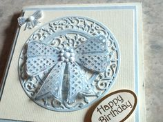 Made with tonic dies and tattered lace bow die