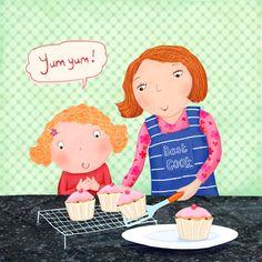 Baking with Mum © Sharon Harmer  mooart www.childrensillustrators.com