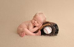 Bainbridge Island Newborn Photographer, posed newborn with baseball and glove, blonde hair cutie, sleeping next to baseball glove, sports theme, photographers near Bainbridge Island Washington + Newborn portrait by Add to Heart Photography www.addtoheart.com