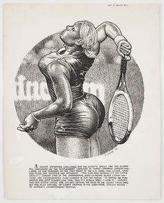R. Crumb, Untitled [Serena Williams], 2002. Published in Art & Beauty Magazine (Fantagraphics Books), no 2, 2003. Photo: courtesy Paul Morris and David Zwirner, New York © Robert Crumb