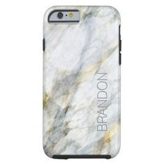 Custom Chic Trendy Marble Stone Texture Pattern Tough iPhone 6 Case - stones diy cyo gift idea special