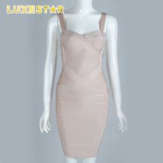 Check out this product on Alibaba.com App:Apricot spaghetti strap bandage bodycon dress https://m.alibaba.com/bAFram