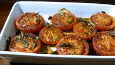 Oven Roasted Tomatoes - tasty side for dinner tonight. These beauties will become a favourite for everyone in the family