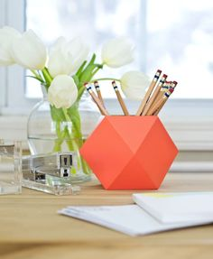 Can you believe this pencil cup is made out of paper?