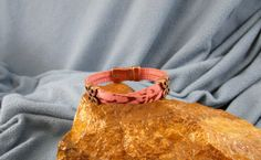 2 Strands 5mm Leather Bracelet with Copper Flower Sliders
