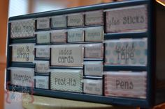 Great teacher tool box, perfect storage for all you need, plus free labels!