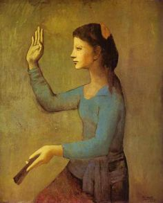 Pablo Picasso - Lady with a Fan, 1905
