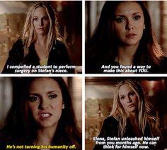 Caroline and Elena. The Vampire Diaries Season 6 Episode 16. Yasssssssss bish yas slayyy!