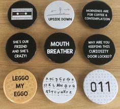 Stranger Things Inspired Pin Badges More