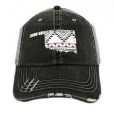 68df6b77d38 This hat features Trucker caps have curved bill Adjustable tab with mesh  back Distressed cap gives it a worn look cotton and ...