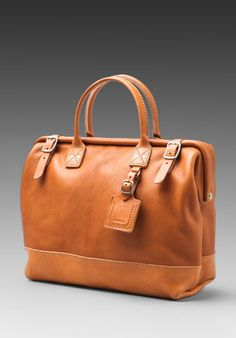 "BILLYKIRK Leather 16"" Carryall in Tan Milled/Tan Eng. Bridle at Revolve Clothing via The Style Buff"