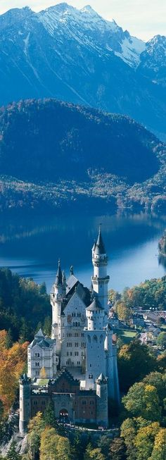The Neuschwanstein Castle The castle is located in Bavaria, near the town of…