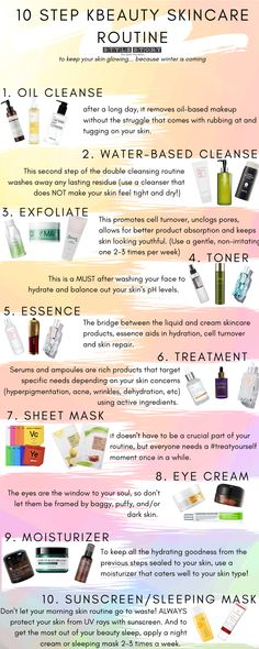STEP K-BEAUTY SKINCARE ROUTINE Everything you need to know about how to apply Korean beauty productsEverything you need to know about how to apply Korean beauty products Skin Care Routine For 20s, Skin Routine, Makeup Routine, Makeup Tricks, Makeup Tools, Beauty Care, Beauty Skin, Beauty Makeup, Makeup Style