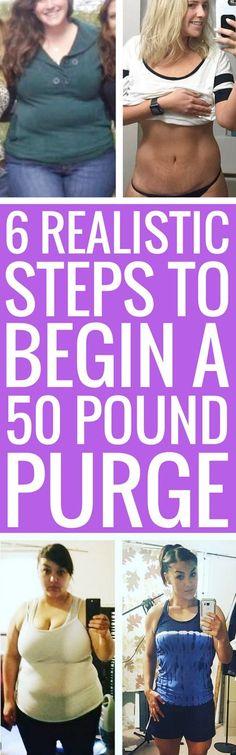 6 perfect ways to jumpstart a 50 pound weight loss journey.