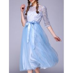 See Through Lace Insert Embroidery Bridesmaid Dress Buy Dresses Online, Bridesmaid Dresses Online, Sheer Sleeve Dress, Sheer Dress, Casual Dresses For Women, Clothes For Women, Transparent Dress, Embroidery Dress, White Lace