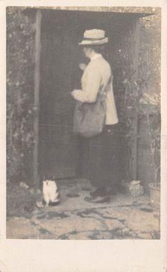POSTCARD OXFORDSHIRE TAYNTON Social History Mrs Pilliway Post Mistress   eBay