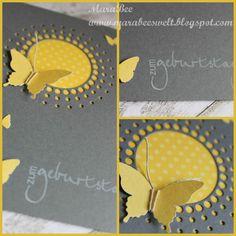 Geburtstagskarte-  Birthdaycard with small-circle-burst