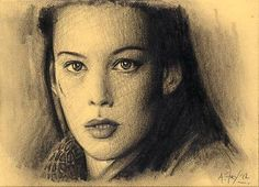Arwen Lord of the Rings LOTR Original Hand Drawn ACEO Sketch Card Mint A.Fry