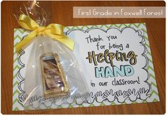 First Grade in Foxwell Forest ~ Volunteer Thank You Gift