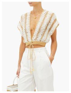 Knitwear Fashion, Knit Fashion, Fashion Outfits, Crochet Beach Dress, Knit Crochet, Crochet Clothes, Diy Clothes, Costumes Faciles, Knit Tie