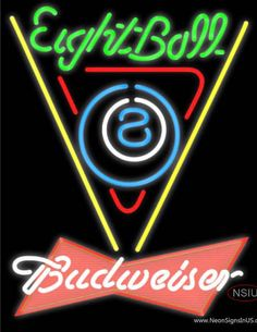 Budweiser Red Eight Ball Billiards Pool Real Neon Glass Tube Neon Sign,Affordable and durable,Made in USA,if you want to get it ,please click the visit button or go to my website,you can get everything neon from us. based in CA USA, free shipping and 1 year warranty , 24/7 service