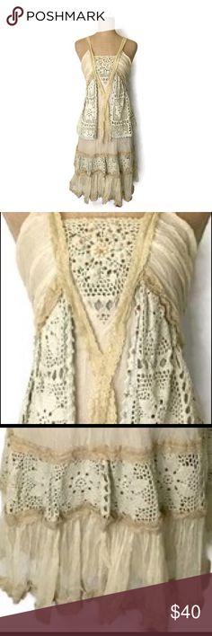 Anthropologie Hazel Dress Silk Lace Crochet Boho Dress ,  New Without tags - never worn Anthropologie Dresses