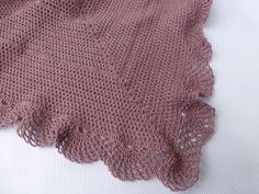 Purple Ruffle Baby Blanket hand crocheted baby blanket por BabyDear