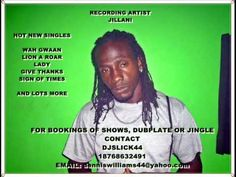 Jillani aka Adolph Henry is blessed with a voice that the world needs to hear. A talent from St Mary, Jamaica that deserves attention.For BOOKINGS DUB-PLATE, SHOWS, JINGLES Please Contact djslick44@ +18768632491