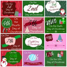 12 Days of Christmas Printable Tags - Busy Moms Helper