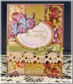 Birthday card using a digital image from Meljen's Designs.