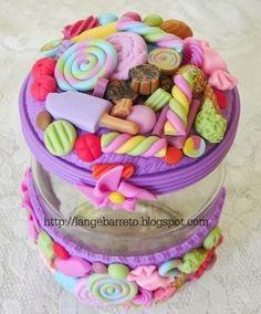 Lange Barreto - Scrap: Potes decorados com Biscuit