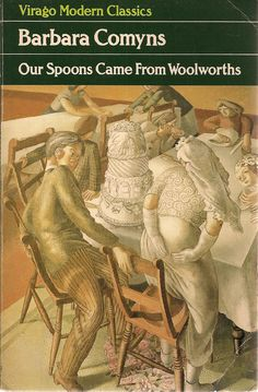 Our Spoons Came From Woolworths by Barbara Comyns cover, detail from 'Marriage at Cana: Bride and Bridegroom' by Stanley Spencer No. I Love Books, Good Books, Books To Read, My Books, This Book, English Writers, Popular Books, Book Cover Art, Classic Books