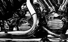 Chopper Engine Superbike HD Widescreen Desktop Wallpaper