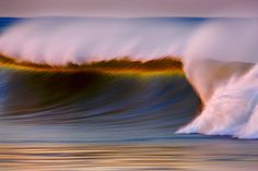 Painterly long-exposure photography of California waves