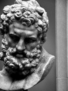 Marble head of Herakles