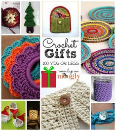 10 Great free #crochet gift patterns that take 100 yds of yarn or less!